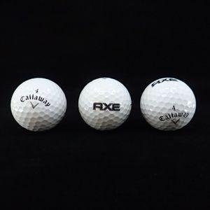 Callaway 4 & Axe Golf Balls 3 Ct - New